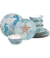 certified international beachcomber 12-pc. dinnerware set