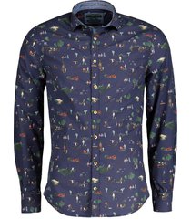 colours & sons overhemd - modern fit - blauw