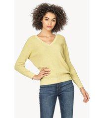 lilla p 3/4 sleeve v-neck sweater