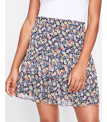 loft floral tiered ruffle pull on skirt