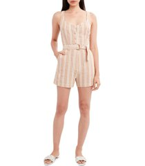 bcbgeneration striped woven belted romper