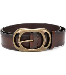 dsquared2 oval buckle belt - brown