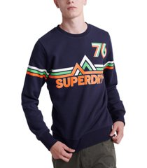 superdry men's downhill racer graphic sweatshirt