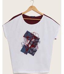 camiseta contraste blanco 14