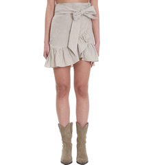 isabel marant étoile skirt in beige cotton