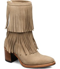 leonie mid-704 shoes boots ankle boots ankle boots with heel brun primeboots