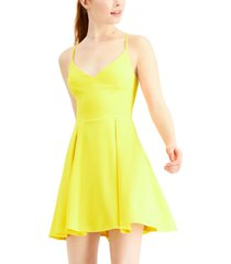 b darlin juniors' v-neck a-line dress