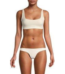 peixoto women's courtney bikini top - ivory - size xs