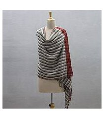 wool blend shawl, 'kullu twilight' (india)