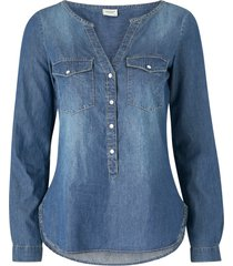jeansskjorta jdywyre l/s placket denim shirt