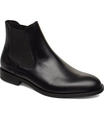 slhlouis leather chelsea boot b stövletter chelsea boot svart selected homme