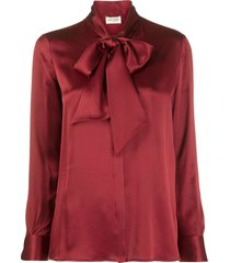 silk pussy bow blouse