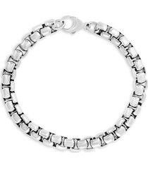 effy sterling silver round box chain bracelet