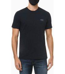 camiseta masculina logo reissue no peito azul marinho calvin klein jeans - pp