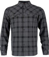 camisa geo long gris oscuro lippi