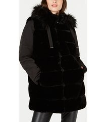 via spiga faux-fur puffer-sleeve hooded coat