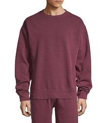 oversized cotton blend sweatshirt
