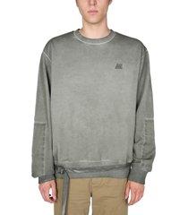 helmut lang military delave effect sweatshirt