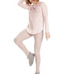 pijama cor com amor feminino - feminino
