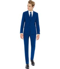 boy's opposuits navy royale two-piece suit with tie (big boy)