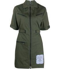 mcq fitted cargo dress - green