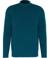 'cavalier' mock neck rib knit cashmere sweater