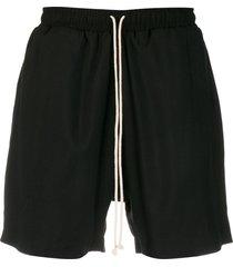 alchemy contrast drawstring shorts - black