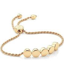 gold linear bead friendship chain bracelet