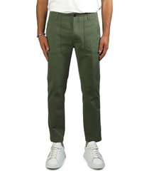 department 5 prince fatique military green chino trousers