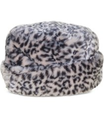 nine west faux-fur cuffed cloche hat