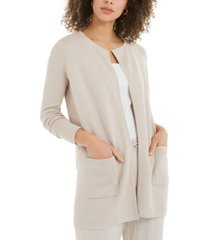 charter club milano cotton open-front sweater, created for macy's