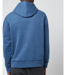 polo ralph lauren men's fleece hoodie - derby blue heather - xxl