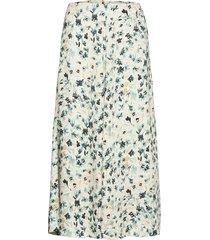 maja printed skirt knälång kjol blå boomerang
