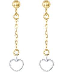 orecchini cuori in oro bicolore per donna