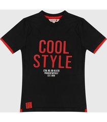 camiseta negro-rojo boboli