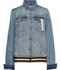 blue over d trucker jacket - dock a dots jeansjacka denimjacka blå scotch & soda