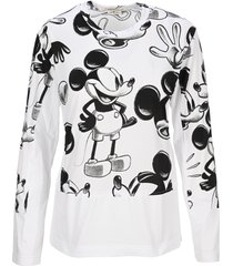 comme des garcons mickey mouse print long-sleeve t-shirt