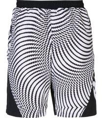 palace swirl print shorts - black