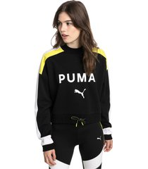 chase damessweater, zwart, maat l | puma