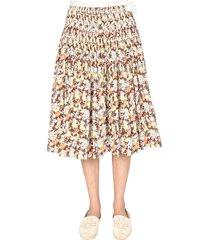 tory burch folded wallet skirt
