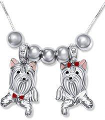 collar pareja perritos casual plata arany joyas