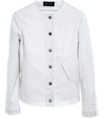 cottoncavalry florealace white jacket for woman
