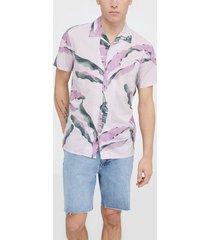 selected homme slhregavalon shirt ss aop b skjortor ljus lila