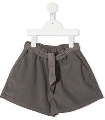 knot okemia self-tie belted shorts - grey