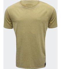 camiseta burnett mostarda masculina