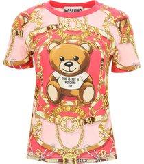 moschino teddy scarf t-shirt