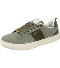 zapatillas hombre con cordones enrico coveri willow oxford 02 oliva