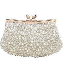 pearl cluster clutch
