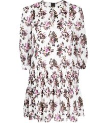 pinko floral-print drop-waist dress - white