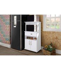 balcão para forno e microondas móvel bento branco